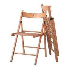 IKEA - TERJE, Silla plegable, Al ser plegable, ocupa menos espacio cuando no la…
