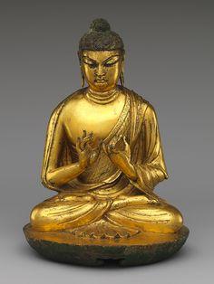 Buddha Vairocana (Dari), Tang dynasty (618–906), early 8th century  China - Gilt leaded bronze