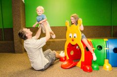 We reserve the upstairs portion of our facility for little ones ages 3 and under.  We want them to have a safe spot to crawl, toddle, cruise, and explore!