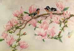 Victorian Graphics Bird and Flowers | ... bird paintings focus on flowers, fruits, birds, insects, bamboo, trees