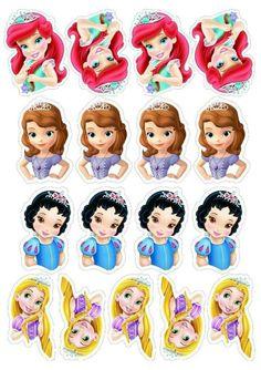 Disney Princess Babies, Disney Princess Birthday Party, Baby Princess, Baby Disney, Princess Cupcake Toppers, Princess Cupcakes, Paw Patrol Birthday Cake, Birthday Cake Toppers, Disney Drawings Sketches