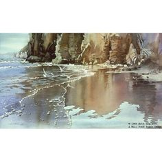 Golden Beach by watercolor artist Nita Engle available from Snow Goose Gallery
