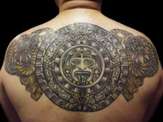 62e8d33bd44f3 99+ Mysterious Tribal Tattoos For Men with Meanings & Tips 2018. Aztec  CalendarMayan ...
