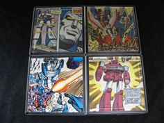 Transformers Vintage Comic Coaster Set by EpicButtons on Etsy, $25.00