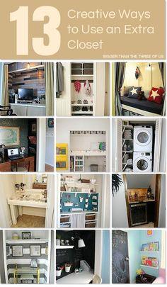 13 Creative Ways to Use an Extra Closet