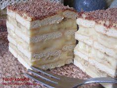 Tündi konyha: Kekszes banános-krémes Sweet And Salty, Tiramisu, Muffins, Food And Drink, Sweets, Cheese, Snacks, Cookies, Cake