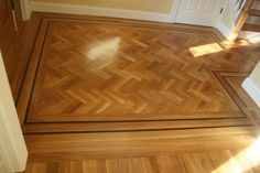 [Floor Design] Best 21 Hardwood Floor Design Layout: Assembling A Wood Floor Out Of Shorts Few Questions About Layout Herringbone Tile Floors, Herringbone Pattern, Floor Design, House Design, Wood Like Tile, Unique Flooring, Flooring Ideas, Wood Floor Pattern, Floors And More