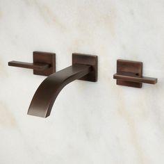 Ultra Wall Mount Bathroom Faucet   Lever Handles