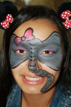 Elephant face paint by Cynnamon painted in Corona  www.facepaintingbycynnamon.com