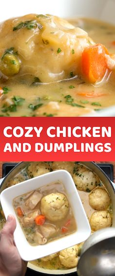 Cozy Chicken And Dumplings - The ingredients and how to make it please visit the website Chicken And Dumplings, Cooked Chicken, Cheap Chicken Recipes, Parmesan Crusted Chicken, Quick Meals, Easy Dinners, Food Website, Best Dinner Recipes, Rice Recipes