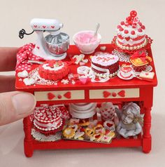 "2,503 Likes, 21 Comments - My Tiny Objects (@mytinyobjects) on Instagram: ""Miniature Valentines Day preparation table❤️❤️ credits to: @parisminiatures #sotiny #miniature…"""