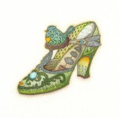 Green Shoe by Tracy Paul