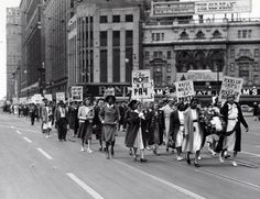 Women's Auxiliary, Marches, Detroit, Michigan, 1940s