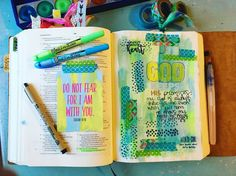 Isaiah bible journal page. Have no fear.