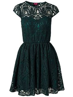 Fancy Lace Dress - Dark Pink - Grön - Festklänningar - Kläder - Kvinna - Nelly.com