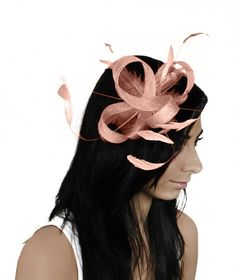 Four Loops Pale Pink Fascinator Hat for by Hatsbycressida on Etsy