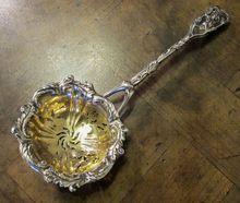 Russian Tea Strainer 84 Standard Silver, Circa 1890
