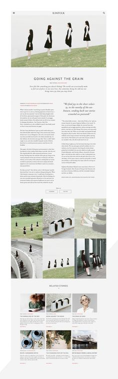 KINFOLK on Behance (article/editorial layout)
