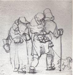 Bedelaarsechtpaar met kinderen en hond 1648