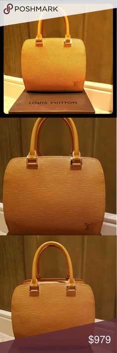 Louis Vuitton Yellow Epi Leather Pont Neuf Satchel Original owner purchased at the LV store in Maui, HW. Purse is in great condition. Color is yellow. FUN purse! Bags Satchels