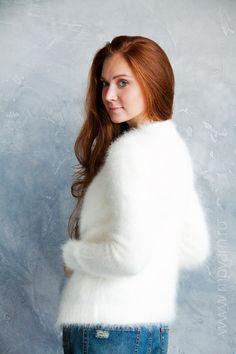 Кофточка из пряжи Angora Prestige - 100% ангора(angora) - Anny Blatt. Посмотреть все доступные цвета можно на нашем сайте www.mpyarn.ru