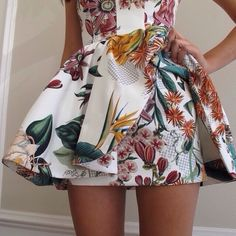 Dress: tumblr dress, floral, short dress, tumblr girl, tumblr ...