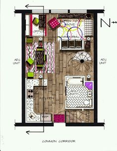 Hand-drawn loft plan