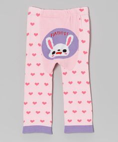 Look what I found on #zulily! Legwarmers Warehouse Pink 'Rabbit' Heart Pants - Infant by Legwarmers Warehouse #zulilyfinds