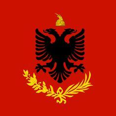 Albania Royal Army - Zog I of Albania - Wikipedia Albanian Culture, Superhero Logos, Army, Flags, Che Guevara, Russia, Alternative, Gloves, Middle Earth