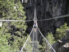 Si trova in Italia il ponte tibetano piu' lungo del mondo