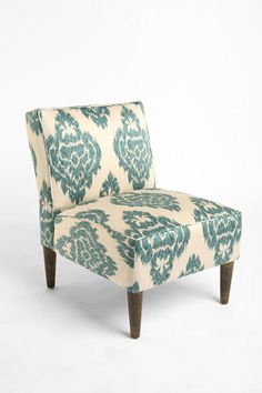 Switch It Up! 11 Tickets To A Quick Bedroom Upgrade - Urban Outfitters Slipper Chair - Turquoise Ikat, $369, available at Urban Outfitters.