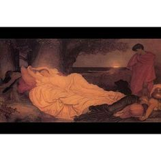 """Buyenlarge 'Cymon and Iphigenia' by Frederick Leighton Painting Print Size: 24"""" H x 36"""" W x 1.5"""" D"""