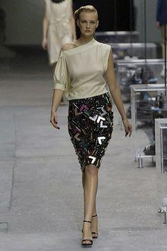 Saint Laurent Spring 2008 Ready-to-Wear Fashion Show - Caroline Trentini (Elite)