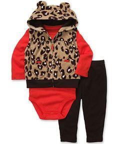 Carter's Baby Set, Baby Girls 3-Piece Bodysuit, Vest and Pants - Kids Newborn Shop - Macy's