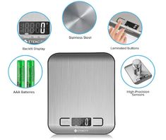 Digital Kitchen Food scale for baking and cooking - Software reviews Food Weight Scale, Food Scale, Breakfast Sandwich Maker, Digital Kitchen Scales, Digital Scale, Save Energy, Baking, Top Rated, 1 Year