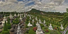 World's most beautiful gardens - Nong Nooch Tropical Botanical Garden, Thailand Most Beautiful Gardens, World's Most Beautiful, Beautiful World, Beautiful Places, Wanderlust Travel, Asia Travel, Pattaya Thailand, Visit Thailand, Botanical Gardens