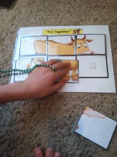 "Farm Simple Puzzles for Autism created by ""Inspired by Evan"" Autism Resources http://www.teacherspayteachers.com/Product/Farm-Animal-Simple-PuzzlesCut-Paste-for-Autism-520323"