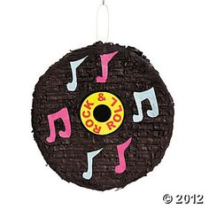 """""""Rock 'N' Roll"""" Record Piñata, Pinatas, Party Decorations, Party Themes & Events - Oriental Trading Unicorn Pinata, Unicorn Party, Rock N Roll, Rock And Roll Birthday, Rock Star Party, Disco Party, Toy Craft, Oriental Trading, Children"""