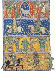 Códice de San Andrés del Arroyo. Los cuatro jinetes del Apocalipsis
