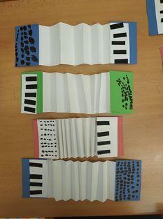 Piano Crafts, Music Crafts, Fun Crafts, Crafts For Kids, Accordion Instrument, Instrument Craft, Preschool Music, Teaching Music, Diy Paper