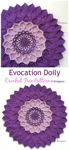 With these free crochet doily patterns, you will be able to make some of the best ever crochet projects for your home décor to a great addition of embellishment Mandala Au Crochet, Crochet Doily Rug, Crochet Curtains, Crochet Snowflakes, Thread Crochet, Sewing Curtains, Crochet Doily Diagram, Blanket Crochet, Vintage Crochet Doily Pattern