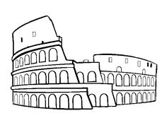 coloring pages of roman buildings - photo#39