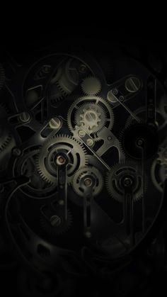 Huawei Mate Gear Dark Illust Art iPhone 6 wallpaper