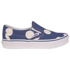 Vans Slip on -  pois blu navy