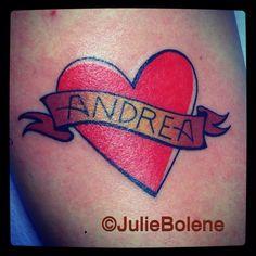 Heart tattoo by julie bolene