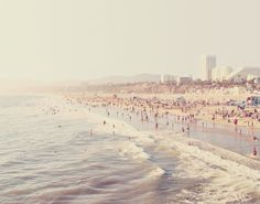 Sunny California. Santa Monica beach photograph Art Print by Myan Soffia | Society6