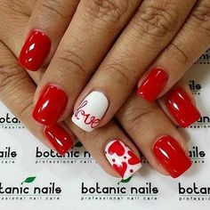 17 Red Hot Valentine's Day Nails for 2018 - Nail Art HQ #nailart