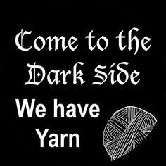 Who needs cookies, I'd rather have yarn! ~Emi