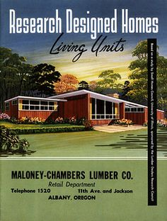 Historic Homes of the Future! Space age design in the by the University of Illinois Small Homes Research Council-AKA My dream house. Mid Century House, Mid Century Style, Mid Century Design, Illinois, Vintage Architecture, Historical Architecture, Residential Architecture, Modern House Plans, Dreams