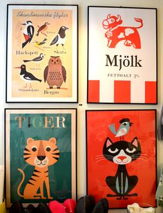 Swedish posters seen in Stockholm, photo by Lisa Congdon